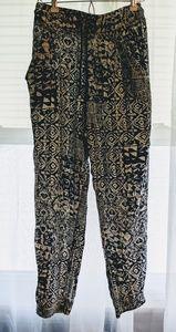 Pants - Blue and White Boho Pants